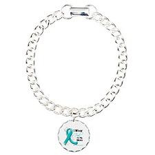 I Wear Teal Mom Ovarian Cancer Bracelet