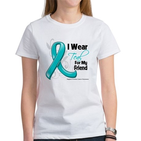 I Wear Teal Friend Ovarian Cancer Women's T-Shirt
