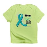 Teal Grandma Ovarian Cancer Infant T-Shirt