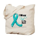 I Wear Teal Aunt Ovarian Cancer Tote Bag