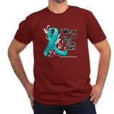 I Wear Teal Aunt Ovarian Cancer T