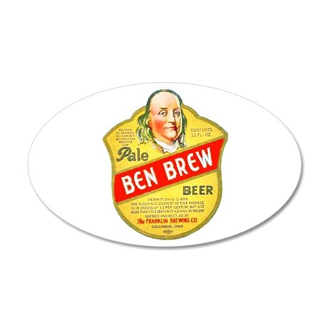 Ohio Beer Label 5 22x14 Oval Wall Peel