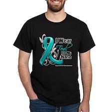 I Wear Teal Nana Ovarian Cancer T-Shirt