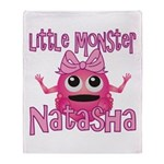Little Monster Natasha Throw Blanket