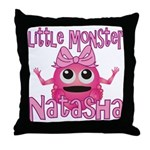 Little Monster Natasha Throw Pillow