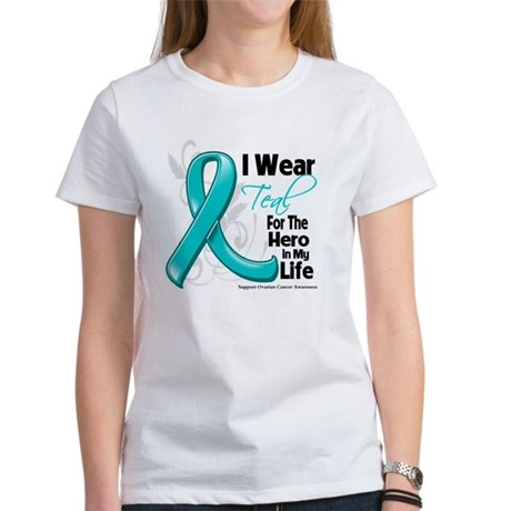 Hero in My Life Ovarian Cancer Women's T-Shirt