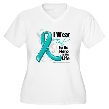 Hero in My Life Ovarian Cancer Women's Plus Size V