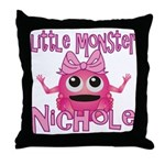 Little Monster Nichole Throw Pillow