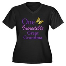 One Incredible Great Grandma Women's Plus Size V-N