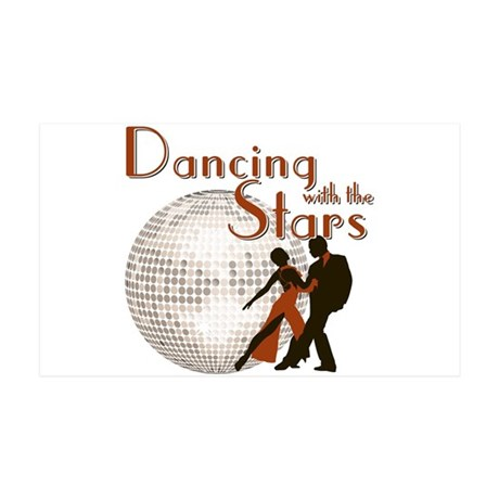 Retro Dancing with the Stars 38.5 x 24.5 Wall Peel