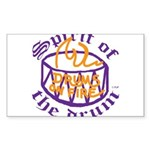 DRUMS ON FIRE™ Sticker (Rectangle 10 pk)