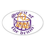 DRUMS ON FIRE™ Sticker (Oval 10 pk)