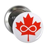 "Canadian Metis Flag 2.25"" Button (10 pack)"