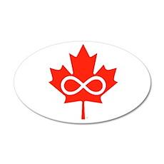 Canadian Metis Flag 38.5 x 24.5 Oval Wall Peel