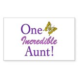 One Incredible Aunt Bumper Stickers