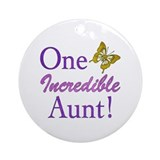One Incredible Aunt Ornament (Round)