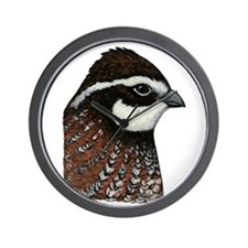 Bobwhite Quail Head Wall Clock