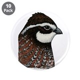 Bobwhite Quail Head 3.5&amp;quot; Button (10 pack)