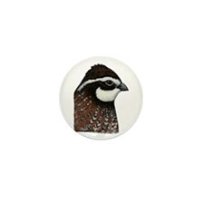 Bobwhite Quail Head Mini Button (100 pack)