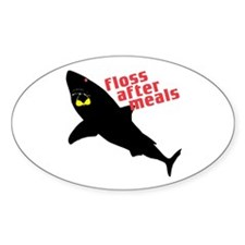 Shark Floss Oval Decal