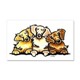 3 Golden Retrievers Car Magnet 20 x 12
