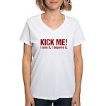 Kick Me Women's V-Neck T-Shirt
