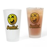 Shocking Smiley Drinking Glass