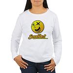Shocking Smiley Women's Long Sleeve T-Shirt