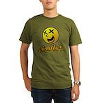 Shocking Smiley Organic Men's T-Shirt (dark)