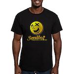 Shocking Smiley Men's Fitted T-Shirt (dark)