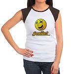 Shocking Smiley Women's Cap Sleeve T-Shirt