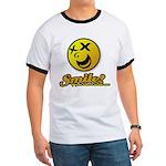 Shocking Smiley Ringer T