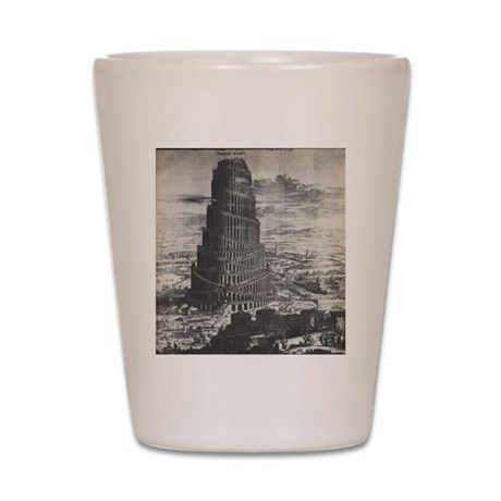 Ancient Tower of Babel Shot Glass