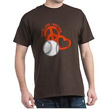 Peace, Love & Baseball T-Shirt