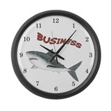 Business Shark Large Wall Clock