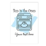 Bun in the Oven (blue) Postcards (Package of 8)