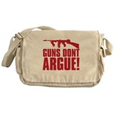 GUNS DONT ARGUE Messenger Bag