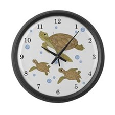 Sea Turtle Large Wall Clock