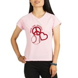 Peace, Love & Baseball Performance Dry T-Shirt