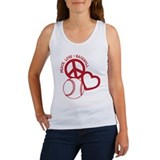 Peace, Love &amp; Baseball Women's Tank Top