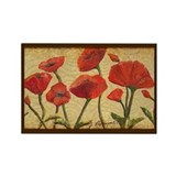 Poppy Paradise Rectangle Magnet