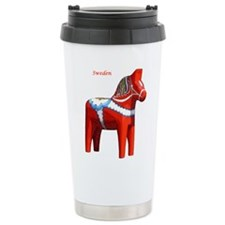 Dala Horse Ceramic Travel Mug