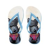 Winter Coat Scottie Dog Flip Flops