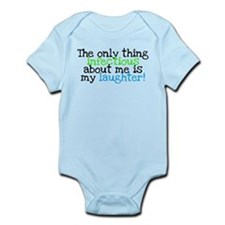 Infectious Laughter green/pin Infant Bodysuit