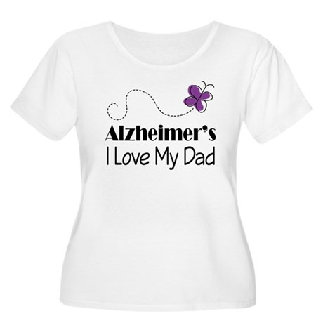 Alzheimer's Love My Dad Women's Plus Size Scoop Ne