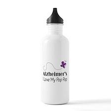 Alzheimer's Love My Pop Pop Water Bottle