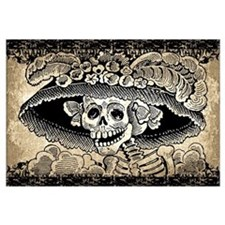 Cute Day of the dead Wall Art
