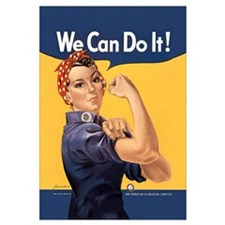 Funny Rosie the riveter Wall Art