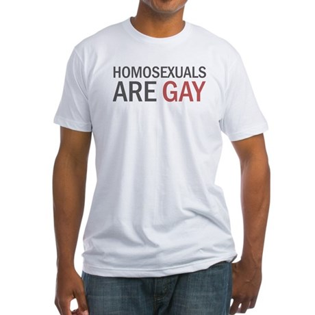 Homos are Gay Fitted T-Shirt