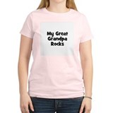 My Great Grandpa Rocks Women's Pink T-Shirt